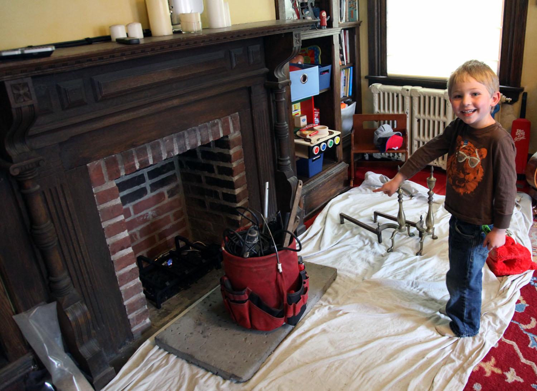 fireplace stately kitsch