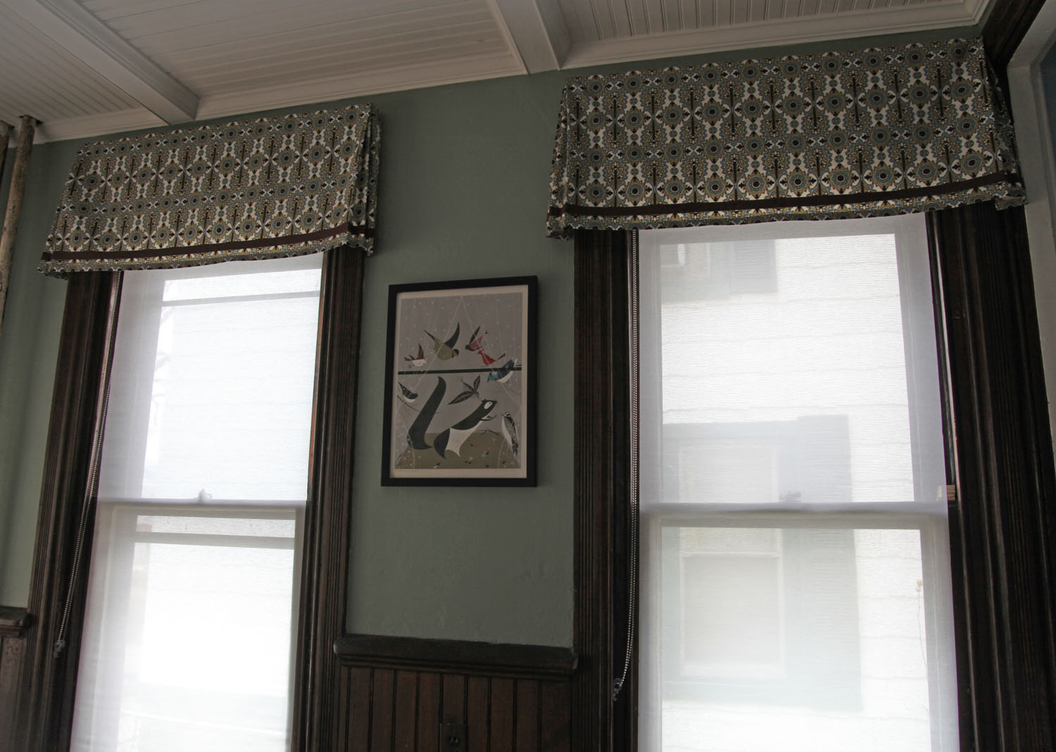 The dining room windows the valances stately kitsch for Window valance