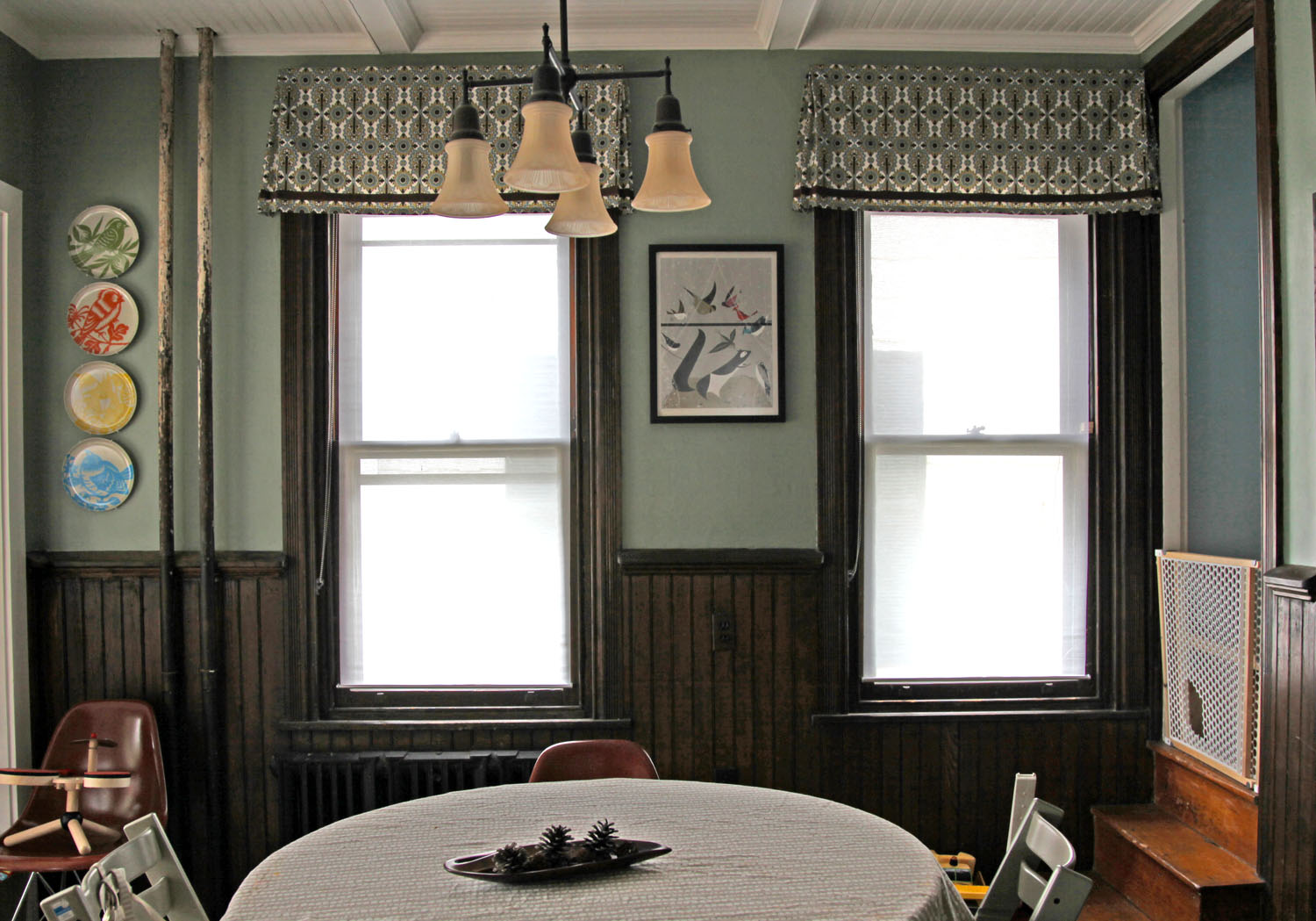 with bay window wonderful room bmorebiostat valance valances for farmhouse dining in famous