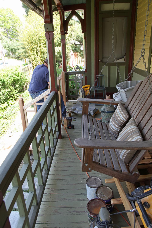 Front Porch Progress The Back Fence Amp Porch Floor Paint