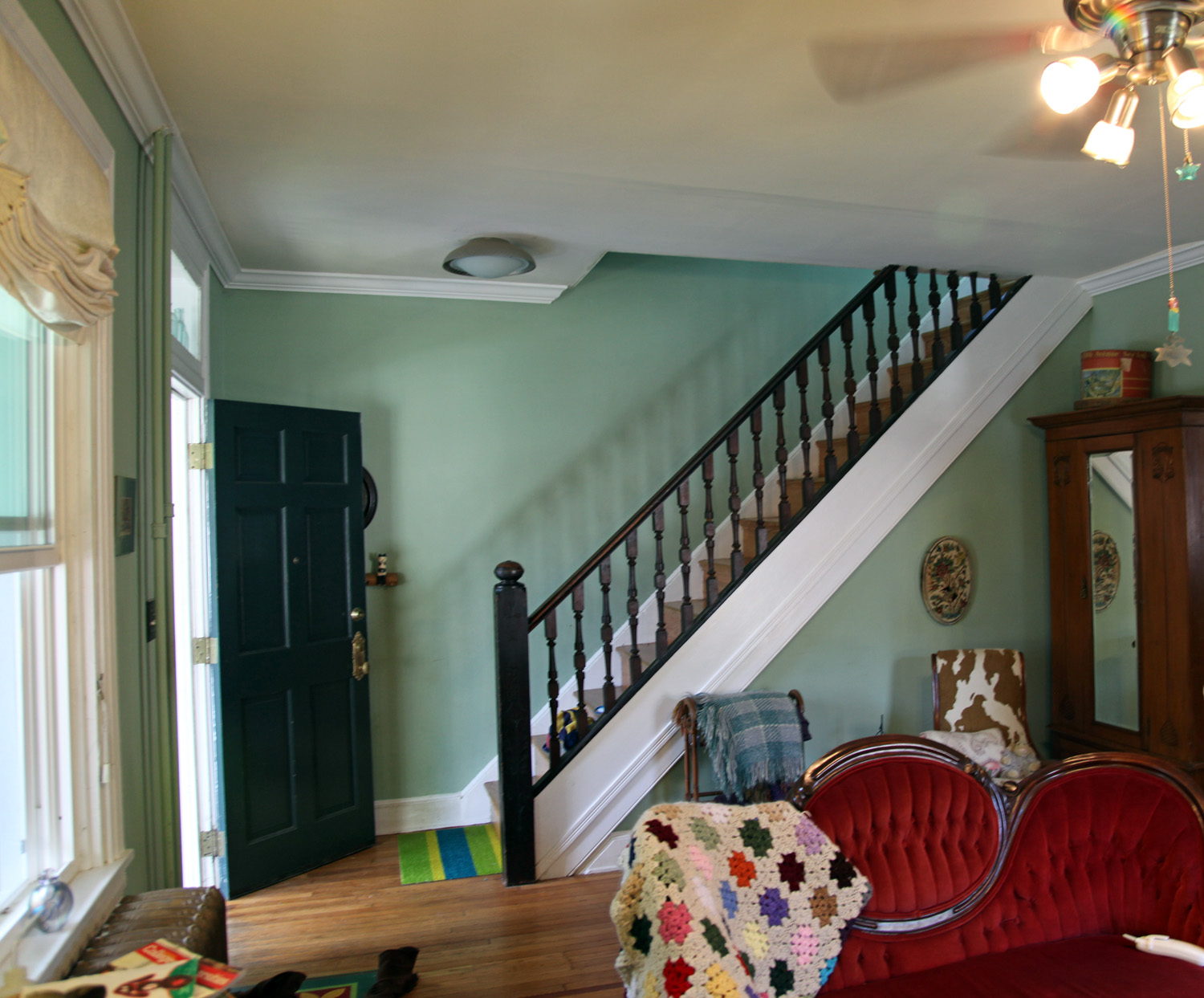 Living Room Staircase Front Entry Dining