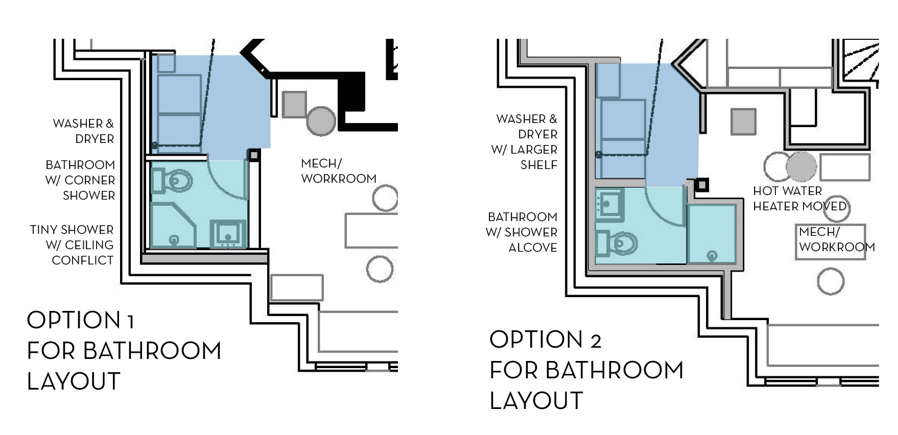 Bathroom Layout Options. Our Basement Part 7  Bathroom   Layout   Stately Kitsch