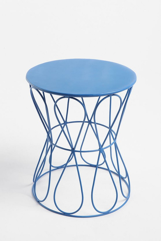 Blue Loop De Loop Side Table from Urban Outfitters, $49.99 + extra shipping  charge