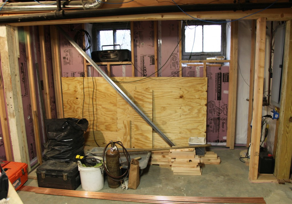Our Basement Part 25: Stud Walls And Plumbing