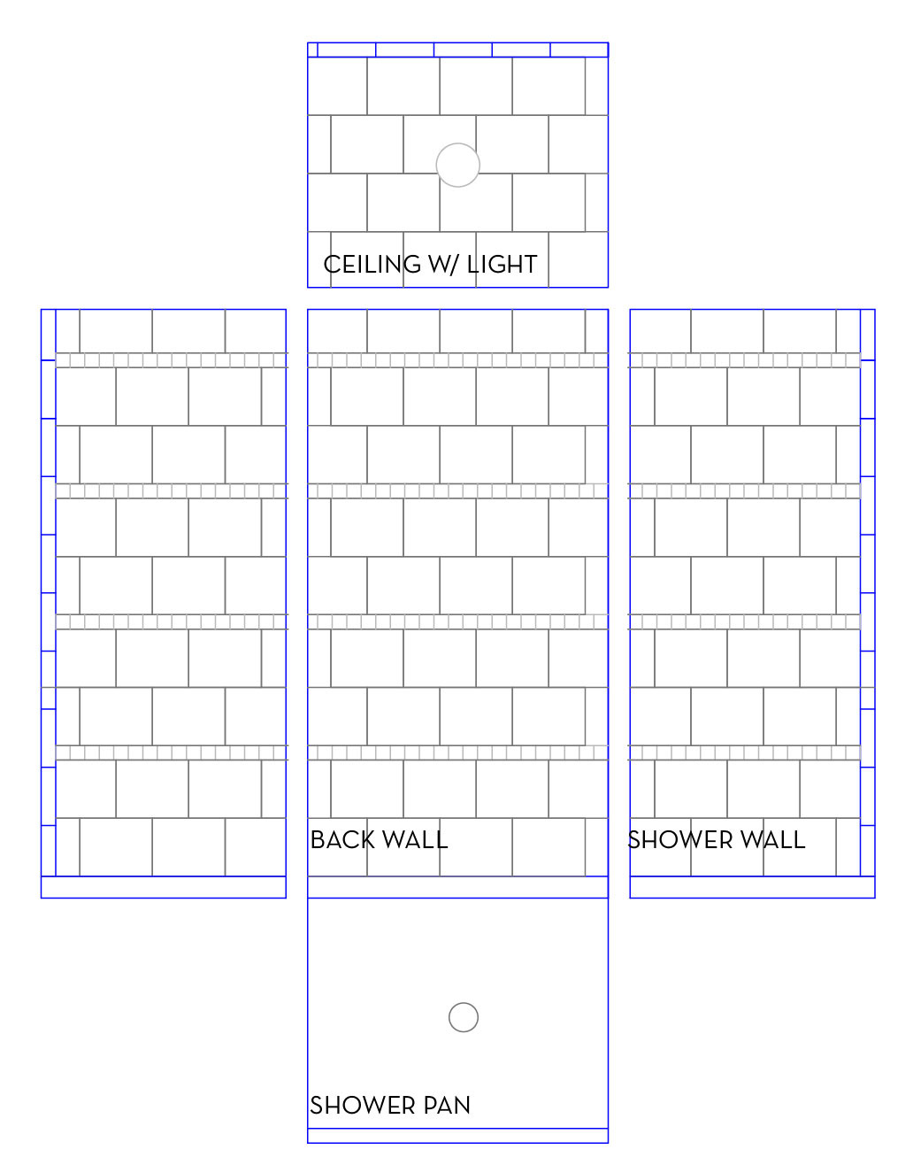 Tile on pinterest brick patterns landscaping and tile patterns Shower tile layout