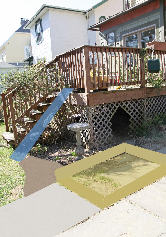 backyard place spaces a deck fort sandbox u0026 slide stately kitsch