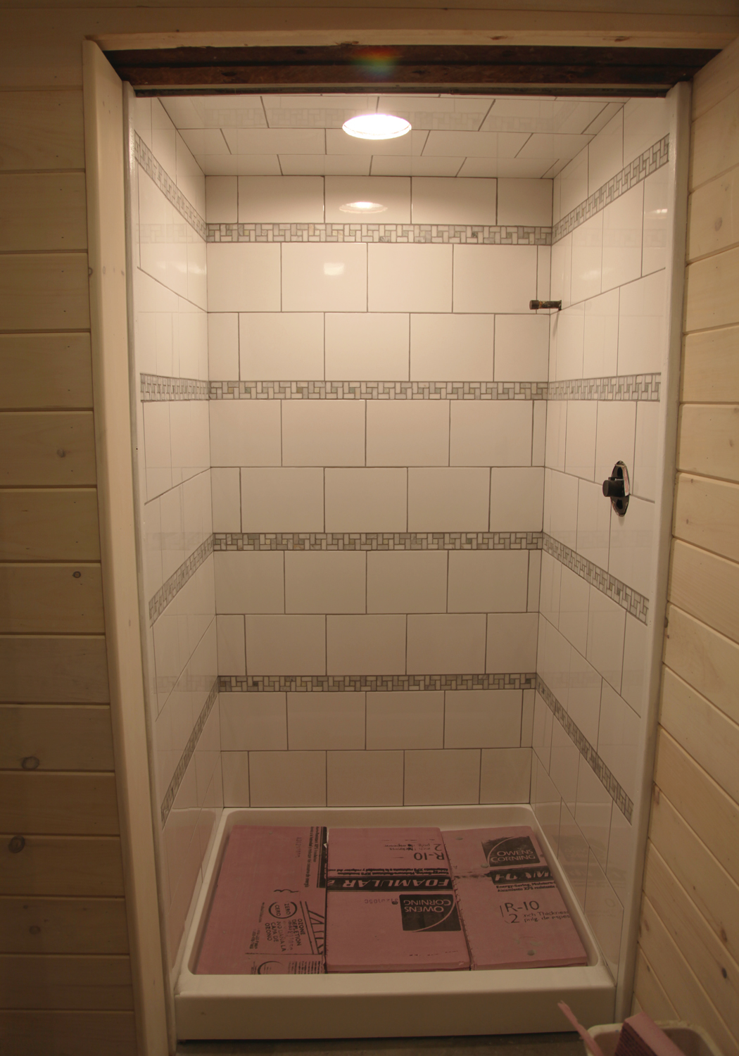 Superior Shower All Grouted!
