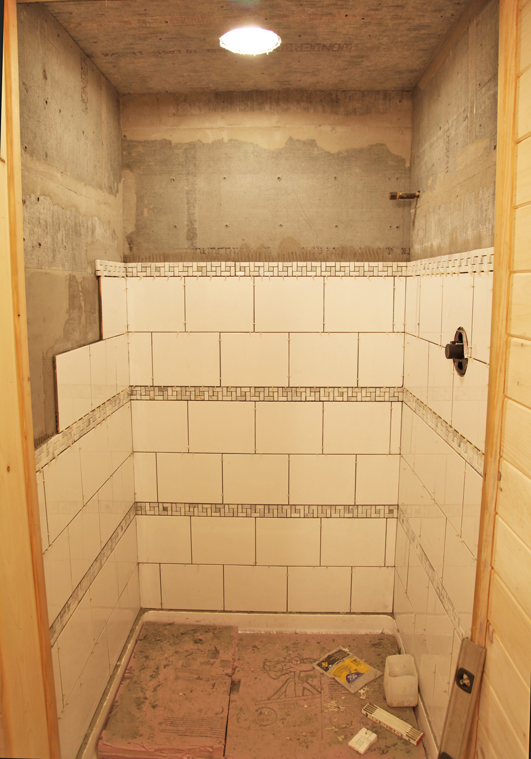 Our basment part 29 shower tile stately kitsch Tile a shower