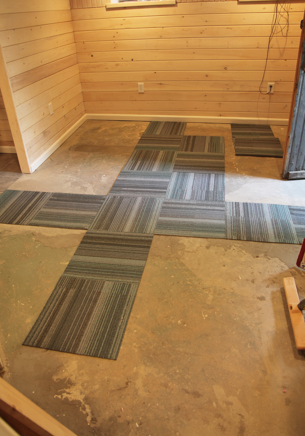 Our Basement Part 40: Installing Carpet Tile | Stately Kitsch