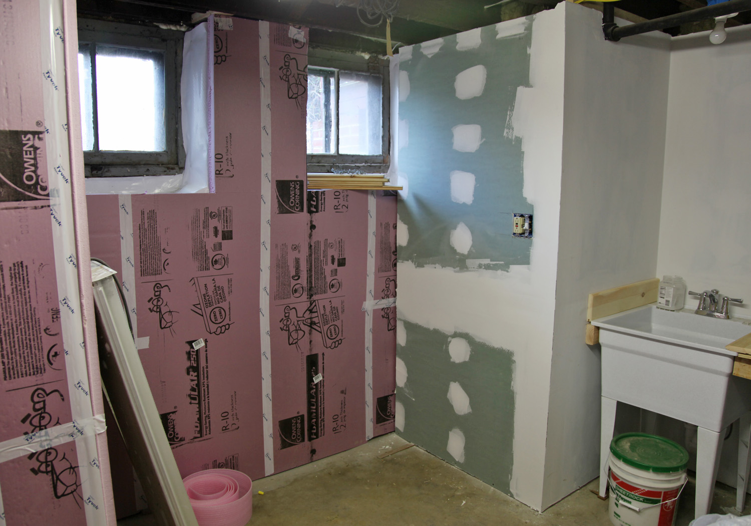 Our Basement Part 38 The Beadboard Ceiling Is White Amp The
