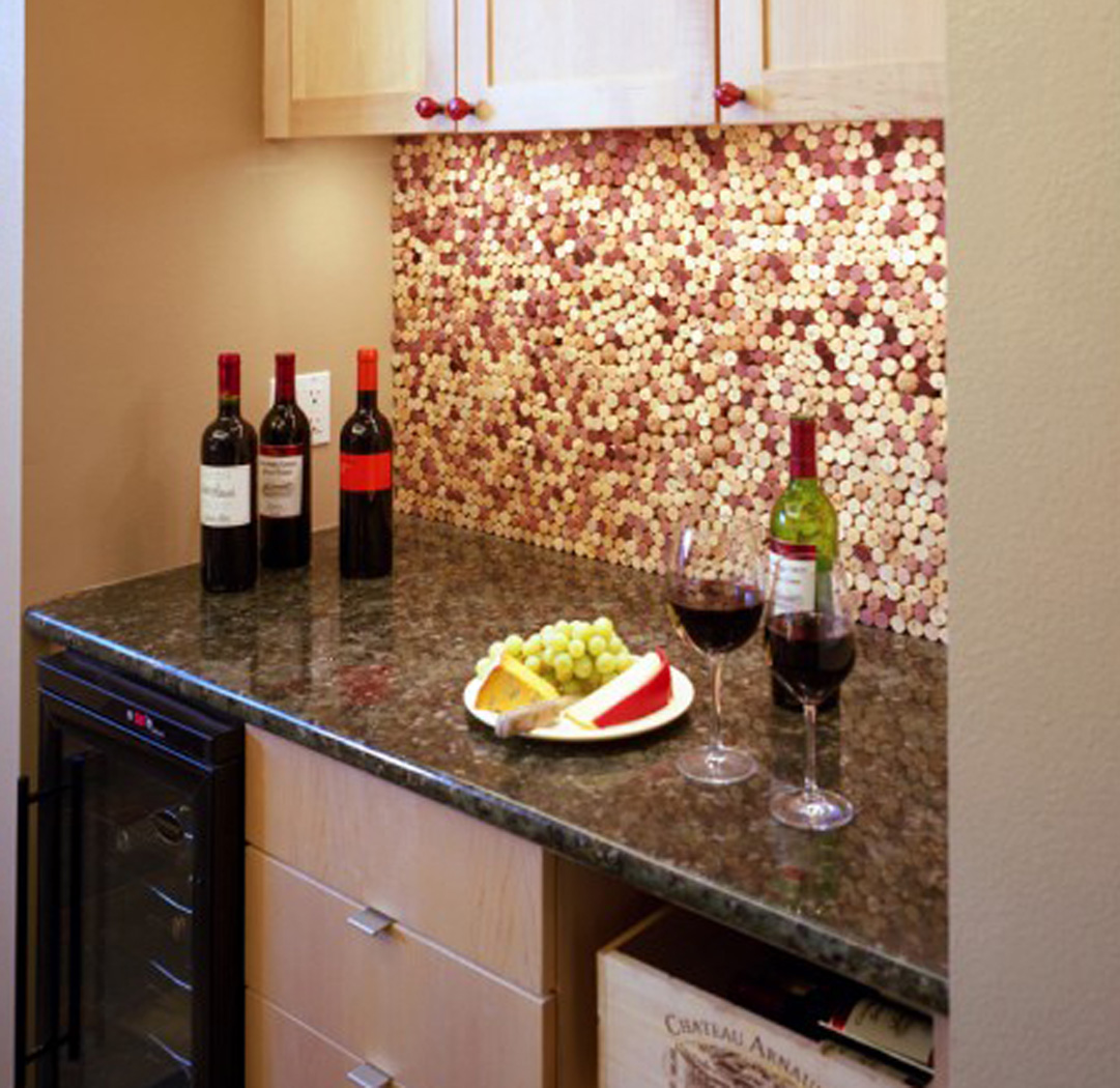 Remarkable DIY Wine Cork Backsplash 1081 x 1050 · 327 kB · jpeg