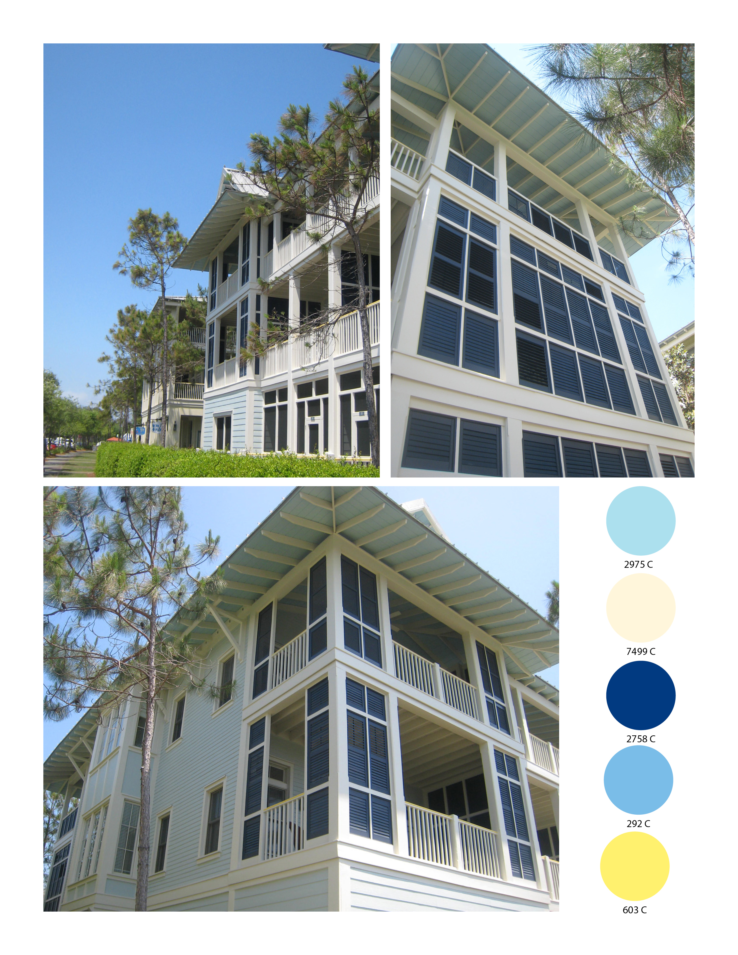 Cottage Color Schemes From Watercolor Amp Seaside Florida