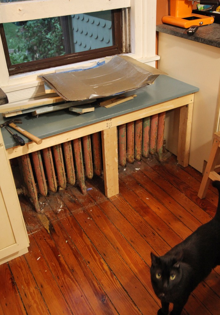 Our Diy Kitchen Window Seat Amp Radiator Cover Stately Kitsch