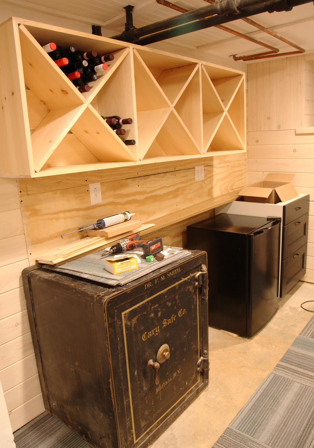 Our Basement Part 56 Wall Mounted Wine Rack Stately Kitsch
