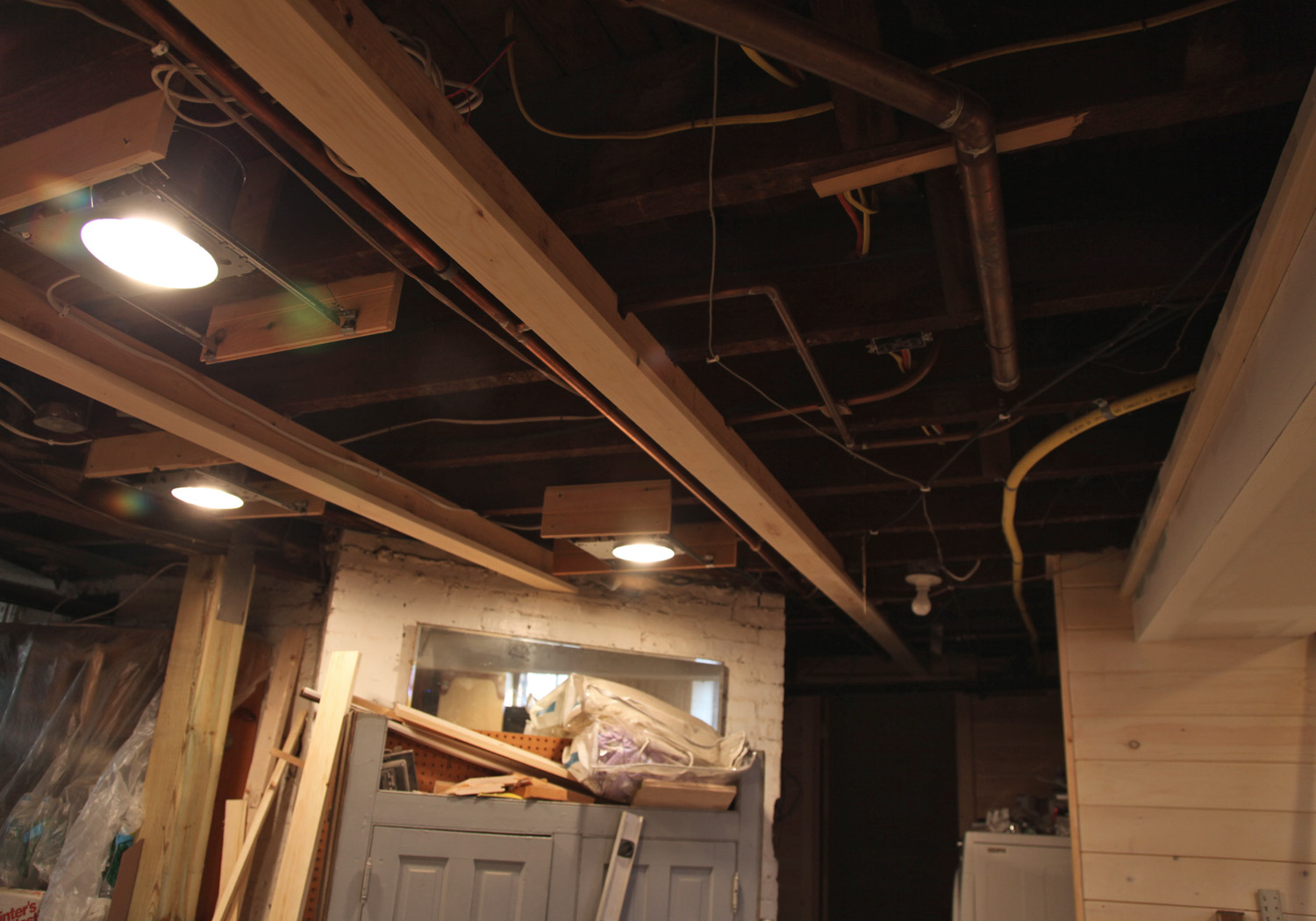 Basement Ceiling Ideas Cheap Ceiling W T Shaped Pieces