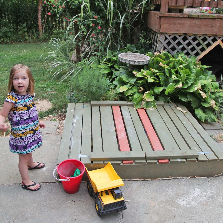 diy sandbox with lid u0026 benches stately kitsch