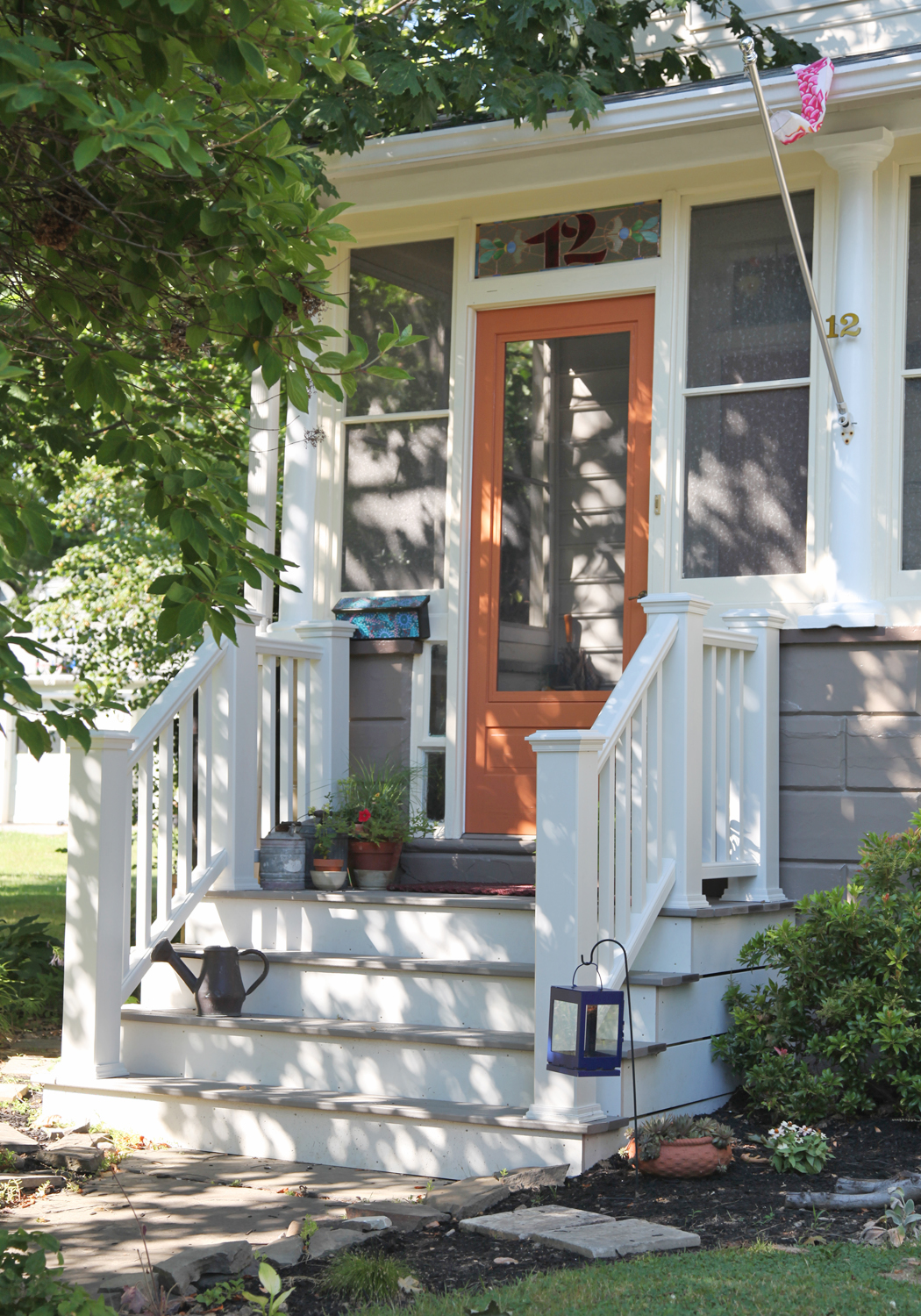 Small Front Porches Designs Front Porch Steps Porch Design: Sarah's Front Porch & Curb Appeal