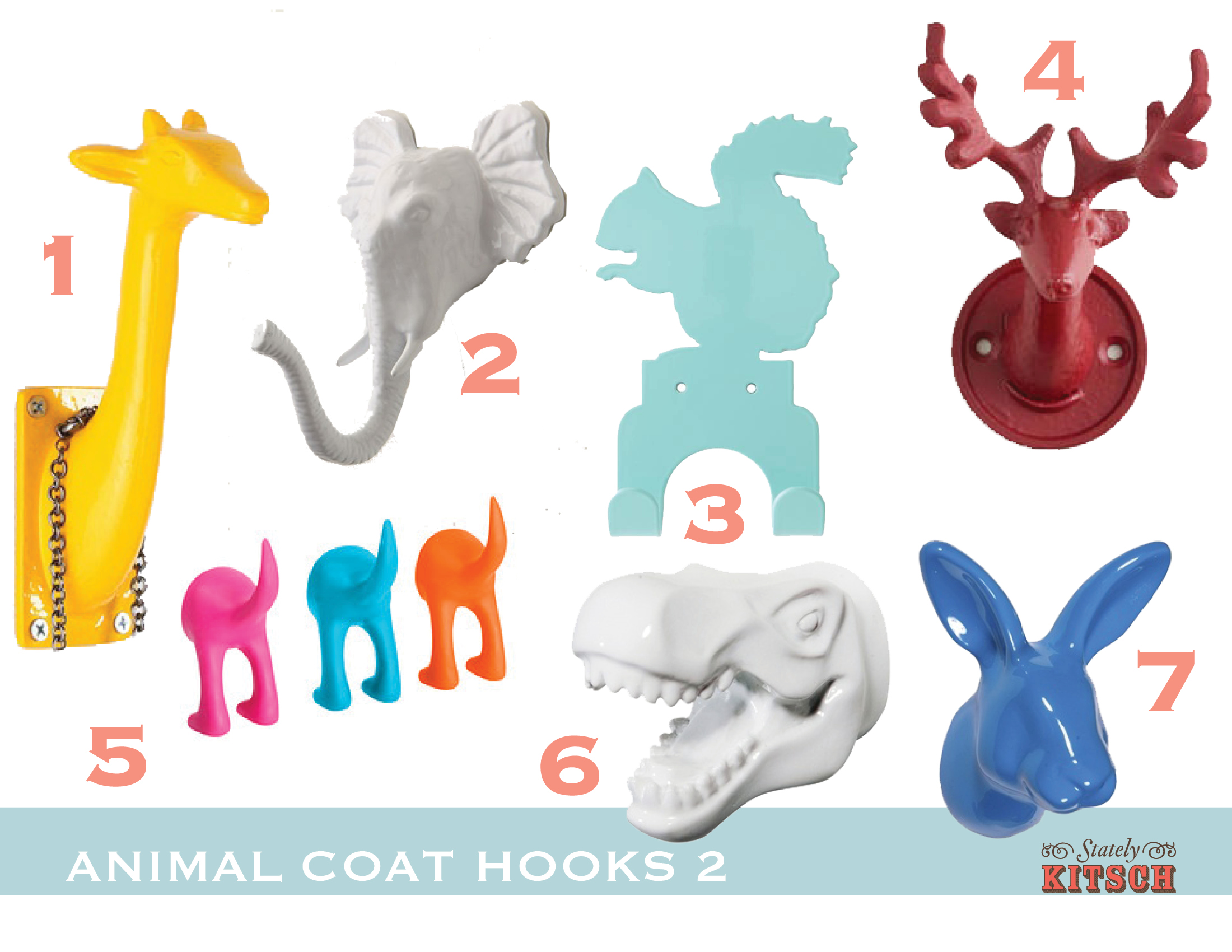 Colorful \u0026 Fun Animal Hooks